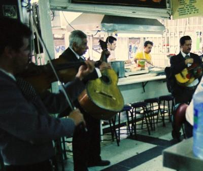 Mariachis, Mercado Libertad food court, Guadalajara