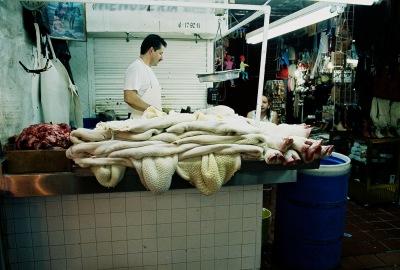 Tripe & pigs' feet, Mercado Libertad carniceria, Guadalajara