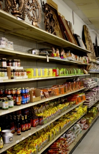Grocery selection, Taj Mahal Imports, Richardson, TX