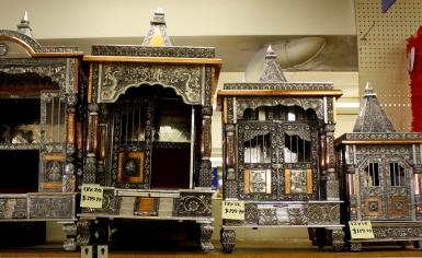 Hindu altars, Taj Mahal Imports, Richardson, TX