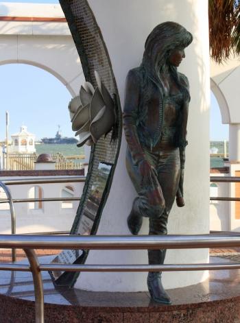Selena memorial, Corpus Christi seawall