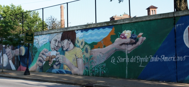 Wall mural, Murray Hill, Little Italy, Cleveland