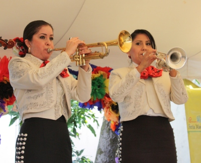Lady mariachis' wall of sound