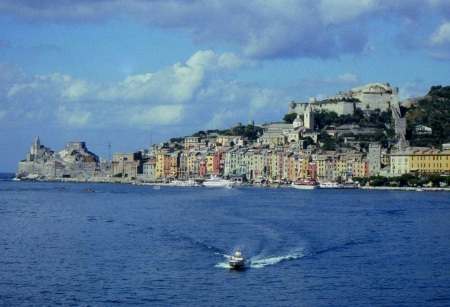 Approaching Port Venere, Italy from the harbor