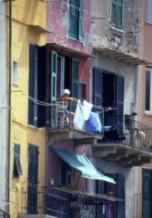 Drying laundry, Porto Venere, Italy