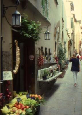 Narrow streets of Porto Venere, Italy