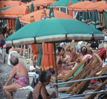 Italians on holiday, Porto Venere, Italy