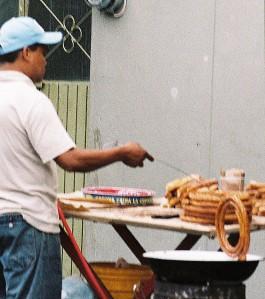 Hot churros, Santa Teresita market, Guadalajara