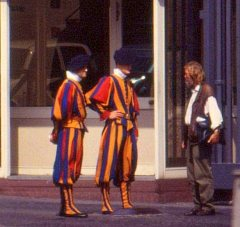 Swiss guards, The Vatican