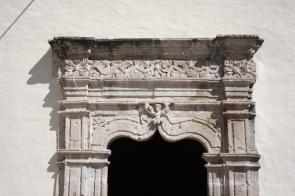 Doorway in carved cantera stone