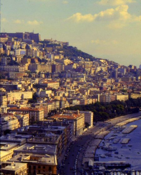 The city of Naples wraps around its namesake bay