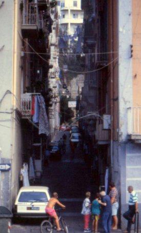 Tenement streets climb hillsides