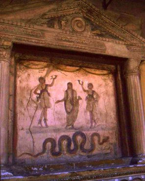 Frescoes and mosaics survive in abundance