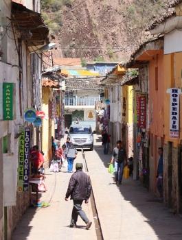 Street scene in Pisac, Peru