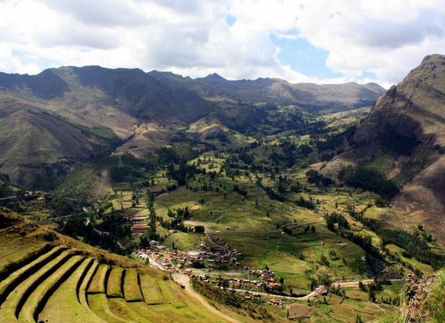 View from terrace of the Pisac ruins