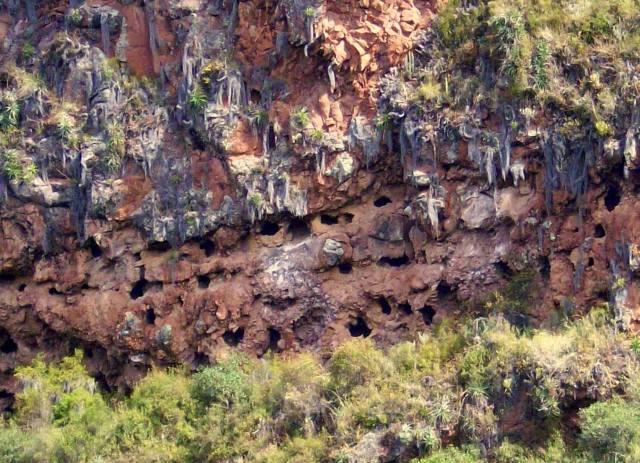 Inca burial caves, Pisac, Peru