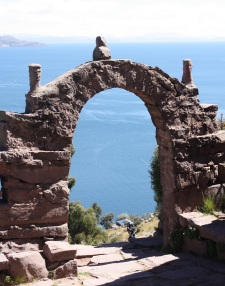 Lake Titicaca as seen from Isla Taquile, Peru