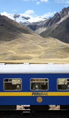 The Andes Explorer stops at La Raya, Peru