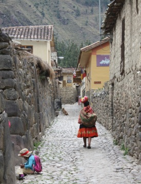Street in Ollentaytambo, Peru