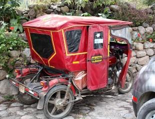 Motorcycle taxi in Urubamba, Peru