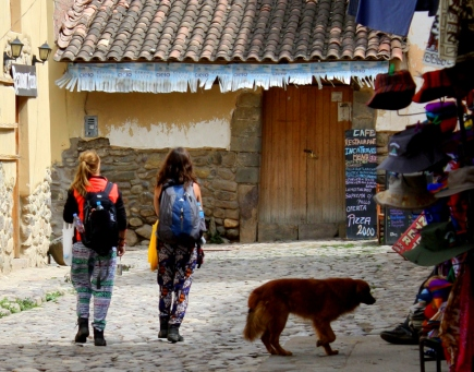 Ollentaytambo is a popular stay-over for backpackers on their way to Machu Picchu