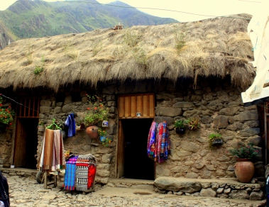 Entrance to traditional Inca home.