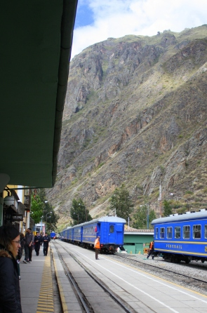 PeruRail station at Ollantaytambo