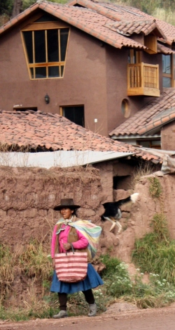 Villager seen from the Andean Explorer