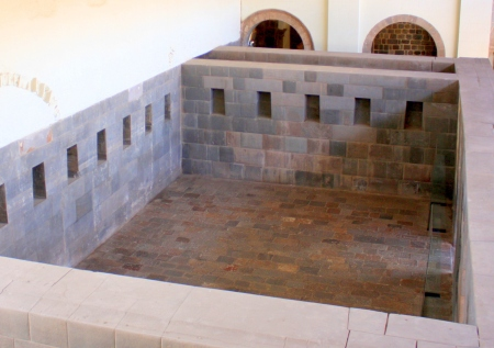 Inca chamber beneath the convent