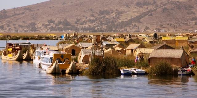 Uros Island village