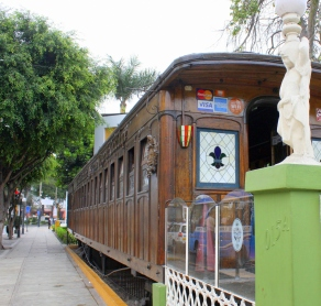 Dining car restaurant, Barranco, Lima, Peru