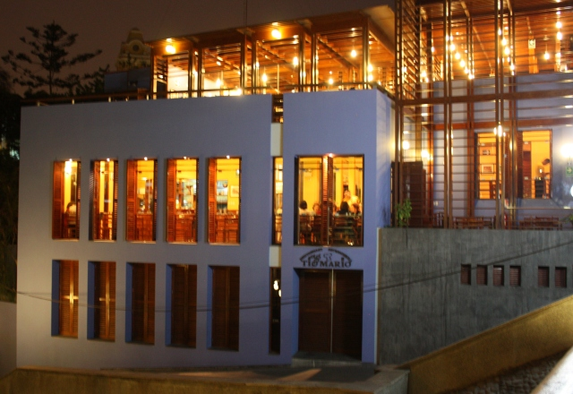 Restaurant at night, Barranco, Lima, Peru