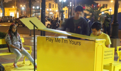 """Play Me"" piano, Barranco, Lima, Peru"