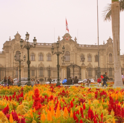 Government Palace, Peru's White House, on the Plaza Mayor, Lima