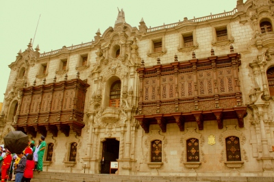 Archbishop's Palace, Plaza Mayor, Lima, Peru