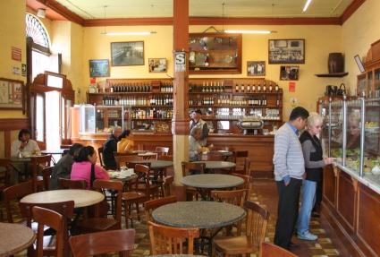 A peak inside of the Bar Cordano, Lima Centro Historico