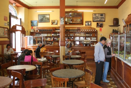 A peak inside of the Bar Cordano, Lima Centro Historico