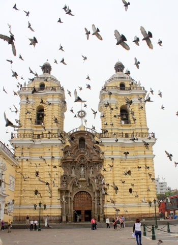 Front facade of the San Franciso Convent, Lima, Peru
