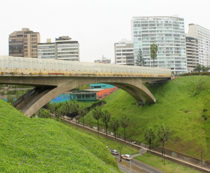 """Suicide Bridge"" in Miraflores District, Lima"