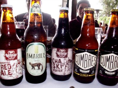 Selections from Peru's Cumbres microbrewery.