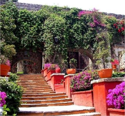 Main house entrances, Museo Ex-Hacienda San Gabriel Barrera, Guanajuato, Mexico