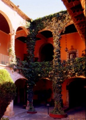 Main house courtyard, Museo Ex-Hacienda San Gabriel Barrera, Guanajuato, Mexico