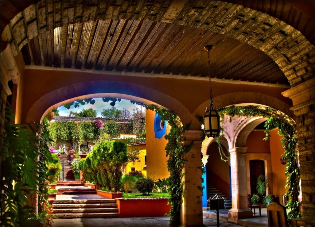 Hacienda Guanajuato Mexico on House Plans With Center Courtyard