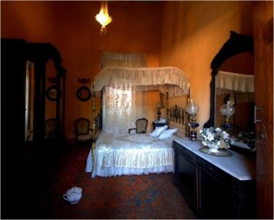 Bedroom, main house, Museo Ex-Hacienda San Gabriel Barrera, Guanajuato, Mexico