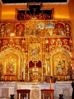Private chapel altarpiece, Museo Ex-Hacienda San Gabriel Barrera, Guanajuato, Mexico
