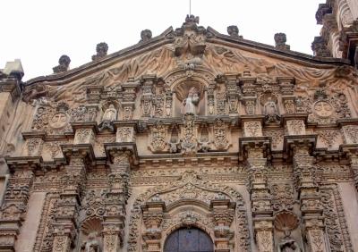 Facade detail, Templo del Carmen, San Luis Potosí, Mexico
