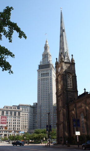 Terminal Tower & Old Stone Church, Public Square, Cleveland