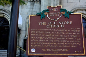 Historical marker, Public Square, Cleveland