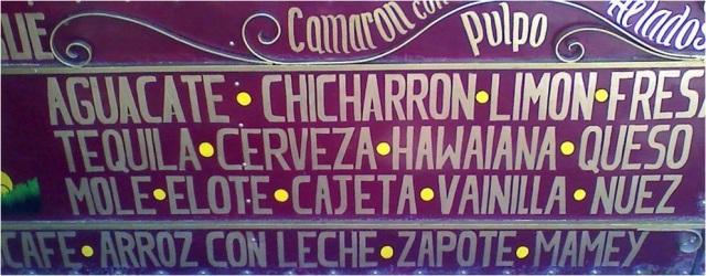 Ice cream flavors, Zócalo, Dolores Hidalgo