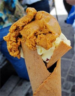 Chili ice cream, Zócalo, Dolores Hidalgo